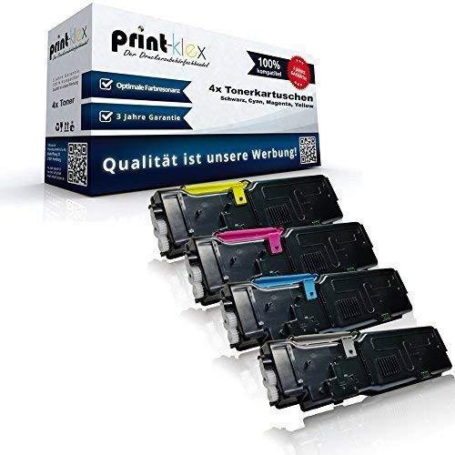 4x kompatible Tonerkartuschen für Dell C 2660DN C 2600Series C 2665DNF C 2665DN C 2660C 2665 593-BBBU 593-BBBT 593-BBBS 593-BBBR Black Cyan Magenta Yellow Sparset KCMY