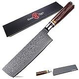 Cuchillo de carnicero Cuchillo japonés acero de Damasco Nakiri Cuchillo verduras Cleaver utensilios de cocina cuchillos de cocina japoneses VG10 Damasco Cuchillos