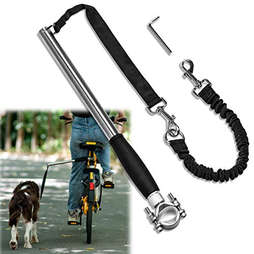 Unicam Retractable Bicycle Dog Leash Hands Free Bike Leash for Pet Dogs Safety Dog Bike Leash Fit for Outdoor Exercise Dog Walking Essentials Easy to be Installation and Removal