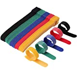 Cable Ties Reusable - Cable Straps Multi-Purpose Tie Wraps Fastening Straps...