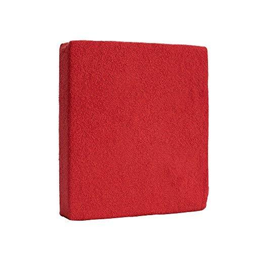 Drap-Housse en Tissu Eponge pour Lit Bébé 120x60cm - Rouge