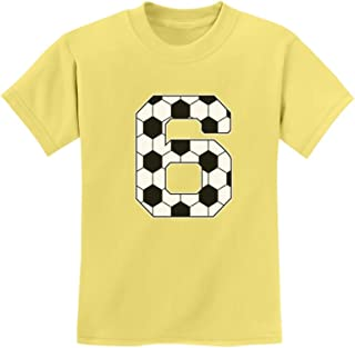 Tstars - Soccer 6th Birthday Gift for 6 Year Old Youth Kids T-Shirt