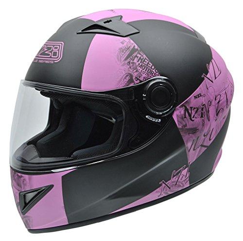 NZI Must Motorradhelm, Mehrfarbig, Schwarz/Pink, 54