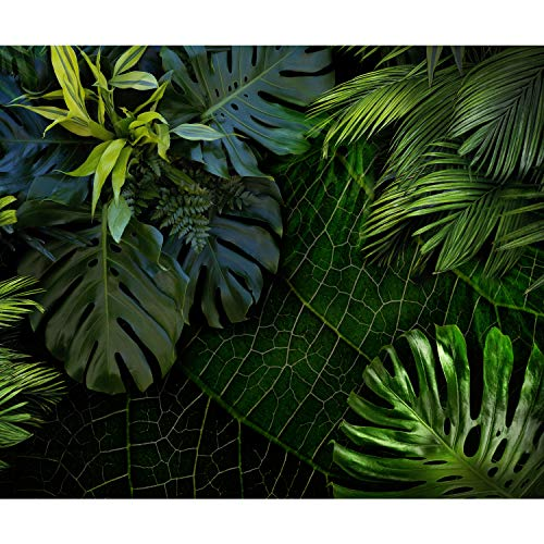 decomonkey Fototapete selbstklebend Palmen 294x210 cm XL Selbstklebende Tapeten Wand Fototapeten Tapete Wandtapete klebend Klebefolie Blätter Pflanzen Natur grün
