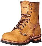 AdTec Botas de punta de acero de 9 pulgadas para hombre, construcción Goodyear Welt de cuero y calzado utilitario, zapatos de trabajo duraderos y de larga duración, suela de lengüeta, marrón, 11 M US