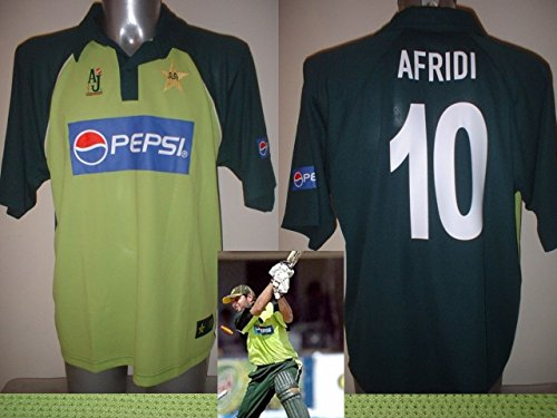 AJ Sports Pakistan Afridi Cricket-Trikot für Erwachsene, groß, BNWOT Weltmeisterschaft