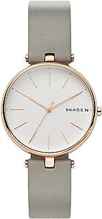 Skagen SKW2710 - Reloj de cuarzo para mujer, acero inoxidable y piel, color gris