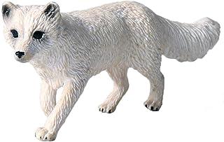 c0b6f7773229 FLORMON Figuras de Animales 1 Piezas Realista Zorro ártico Modelo de acción  El plastico Animal Salvaje