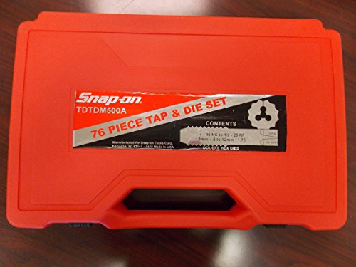 Snap-On Tap and Die Set 76 Piece Metric & SAE, Part # TDTDM500A