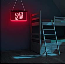 Wangzhuoyue Rise And Grind Led Neon Sign Gepersonaliseerde Inspirational Lighting Lamp Wall Art Workout Fitness Gym Coffee...