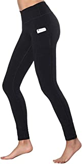Women's High Waist Yoga Pants Tummy Control Workout Running Sports Solid Color Leggings with Pockets