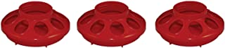 Harris Farms 3 Pack of Baby Chick Feeders for Quart Jars, Red, Screws On