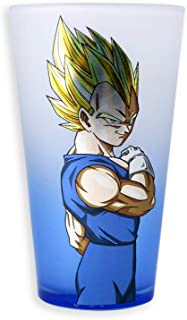 Official Dragon Ball Z, Frosted Pint/Beer Bar Glass, with Foil Decal and Blue Gradient Spray Finish, 16 oz
