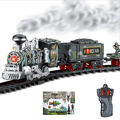 RC Military Train Toy Battery Operated W/ LED Lights , Sound...