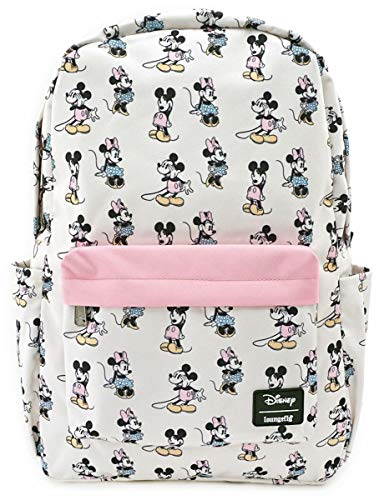 Micky Maus Loungefly - Pastel Micky & Minni Frauen Rucksack rosa Nylon Disney, Fan-Merch, Loungefly