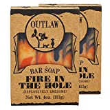 Outlaw Fire in the Hole Handmade Soap - Explosively Awesome - Campfire, Gunpowder, Sagebrush, Whiskey, and Weekend Camping - Men's or Women's Bar Soap - 2 Pack