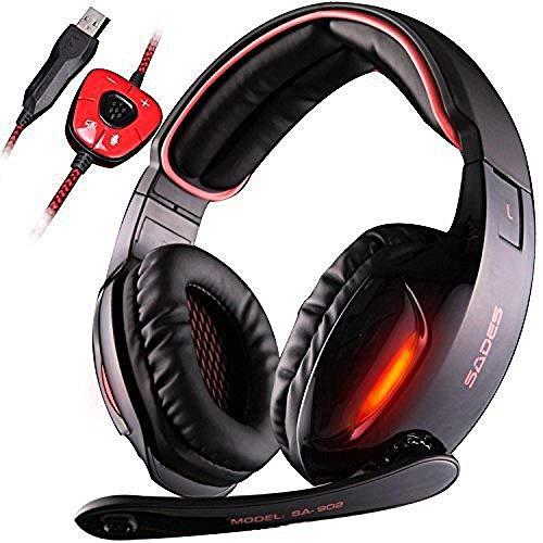 Auriculares con micrófono, Ps4 y Xbox/PC; auricular USB; auriculares para juegos 7.1 USB