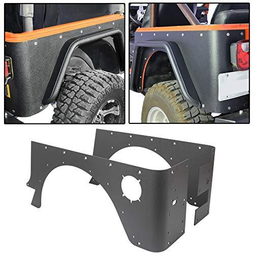 Rear Corner Rocker Guard Compatible with 1997-2006 Jeep Wrangler TJ
