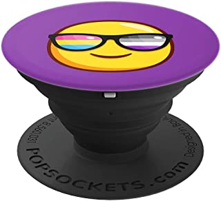 Panromantic Asexual Pride Sunglasses Emoticon - PopSockets Grip and Stand for Phones and Tablets