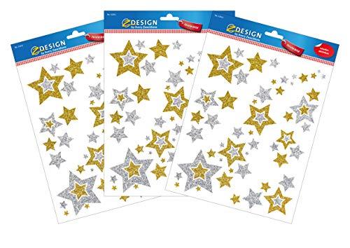 AVERY Zweckform Fensterbilder Set Weihnachten 18 Sticker (Weihnachten Fensterdeko, Fenstersticker, Fensteraufkleber, selbstklebend, wiederablösbar, abwischbar, Weihnachtsdeko, Made in Germany)
