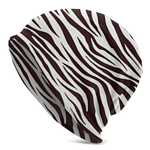 Sunny R Metro Living Zebra Chocolate Warme Slouchy Beanie Mütze Köstlich Weiche Daily Beanie In Feinstrick