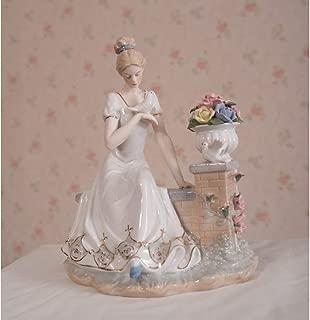 VJHVBNK Porcelana Madre y Escultura Cerámica Maternal Amor Estatua Decoración del hogar Artesanía Regalo para el Día de la Madre y Cumpleaños
