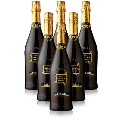 Spumante Brut Cuvèe Astoria Lounge Astoria Italienischer Sekt (6 flaschen 75 cl.)