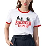 Shirt Ringer tee Stranger Things Camiseta Mejores Amigas Best Friend Impresión T-Shirt Manga Corta1...