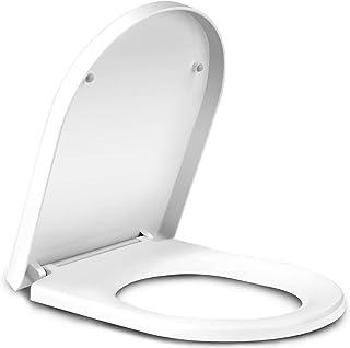 comprar comparacion Amzdeal Tapa de wc, Tapa de inodoro con cierre suave y lenta, Asiento de inodoro de plástico duro, Tapa de asiento de wc c...