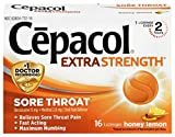 Cepacol Extra Strength Sore Throat Relief Lozenges, Honey Lemon Cough Drops, Maximum Numbing- Fast...