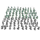 Homyl 200pcs Action Figure Militare Army Soldier Modello Divertente Gioco di Plastica per Bambino 2 cm