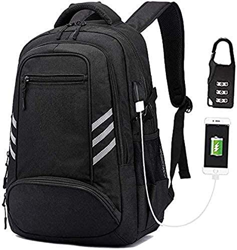 KOLAKO Business Laptop Backpack, Waterproof Casual Travel Daypack, College Computer Backpacks with USB Charging Port for Men, Fits 15.6 inch Laptop & Notebook (Blue)
