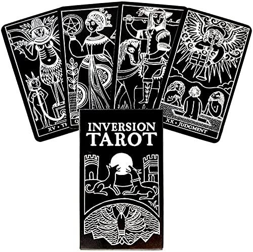 MAZ Inversion Tarot-Karten Und Pdf-Guidance-Gibstoff-Deck Unterhaltungsparteien Brettspiel 78Pcs / Box