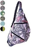 Slope Sling Bag for Women Kids School Crossbody Shoulder Backpack One Strap Daypack - Tri-Floral