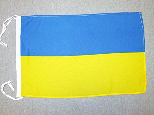 AZ FLAG Flagge Ukraine 45x30cm mit Kordel - UKRAINISCHE Fahne 30 x 45 cm - flaggen Top Qualität