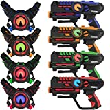 ArmoGear Infrared Laser Tag Blasters and Vests - Laser Battle Mega Pack Set of 4...
