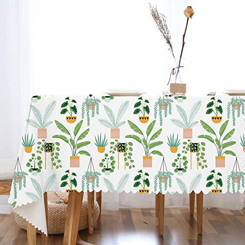 Ahuike Moderne Landhaus Tisch Decke TPU Baumwolle und Leinen Wiederverwendbar Schönem Tischwäsche Country Chic Topfpflanzen 75×75cm