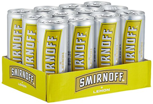 Smirnoff Red No. 21 Premium Vodka & Lemon, EINWEG (12 x 0.25 l)