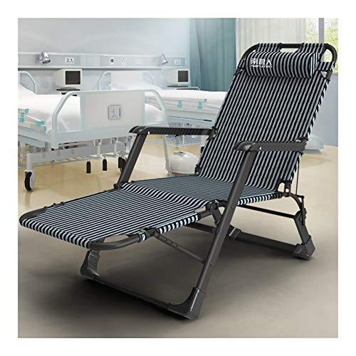Rocker reclinable Tumbona muebles ajustables silla de jardín al aire libre negro cama plegable for la piscina de playa al aire libre del jardín del patio acampan cuadrados pies de acero de 150 kg TEMP