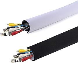 """AGPTEK Cable Management Sleeve (59"""" x 3.9"""") Neoprene Adjustable Cable Sleeves for TV Computer Cable Management Sleeves for..."""