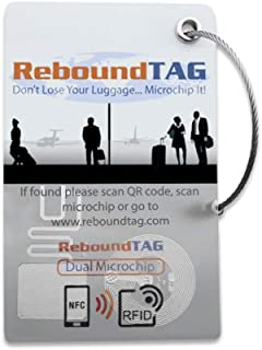 Smart Luggage Tag: RFID, NFC, QR Code: Includes Customer Service Contact To Help You Find Your Lost Luggage