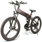 Lanceasy Bicicleta de Montaña Bicicleta Electrica Plegable, Aluminio 26', 350W Motor sin Escobillas, 48V Battery, Portátil, para Exteriores, 30 km/h Velocidad máxima, Subida máxima 35 Grados