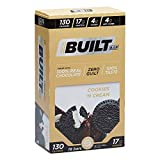 COOKIES 'N CREAM - The classic flavor combination of Cookies 'N Cream comes to life in this latest creation from Built Bar. Covered in 100% dark chocolate, one bite in, you will forget you are eating a healthy protein bar. You're welcome. NEW AND IMP...