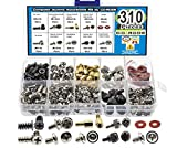 310pcs PC Computer Screw Standoffs Assortment Kit for Hard Drive Computer Case Motherboard Fan Power Graphics