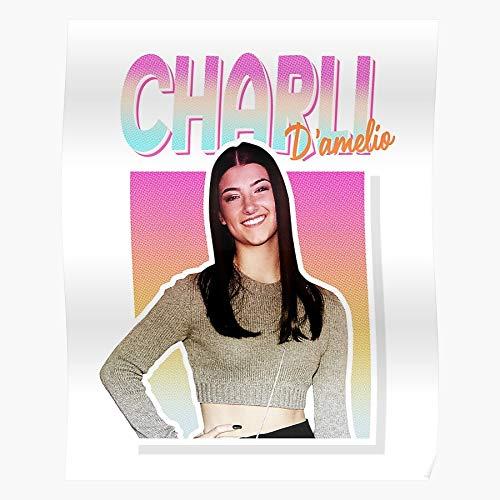 Fsgawards Charli Dance Rae Hypehouse Addison Dixie Damelio Tiktok Beeindruckende Poster für die Raumdekoration, gedruckt mit modernster Technologie auf seidenmattem Papierhintergrund