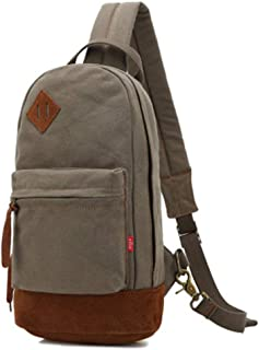 Mens Bag Fashian Street Style Personality Men's Canvas Chest Bag Retro Casual Shoulder Messenger Bag Korean Version Of The Shoulder Bag Male High capacity