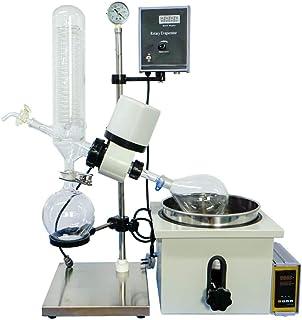MXBAOHENG RE-201D Appareil d'évaporation de Vide Rotatif 2 L avec Levage Manuel et Double Affichage numérique (110 V)