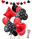 LUCK COLLECTION Casino Party Decorations Game Night Casino Straws Globos Banner para Poker Party Supplies