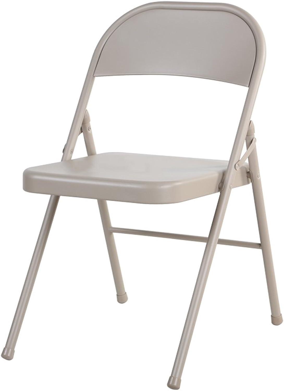 Folding Chair Dining Chair Portable Metal Chair Modern Minimalist Nordic