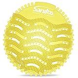 Urinalsieb mit Duft 10 Stk. | Geruch Citrus | Pissoirsieb Urinaleinlage Spritzschutz Lufterfrischer